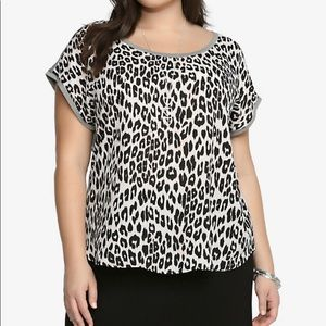 Torrid Leopard Print Chiffon Blouse